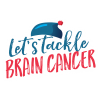 LETS TACKLE BRAIN CANCER WHITE OUTINED